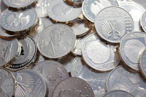 prijsdaling van zilver