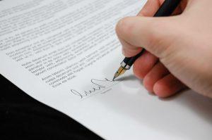 contract voor AMG