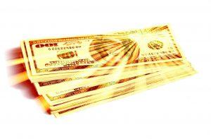 goudprijs en Amerikaanse dollar