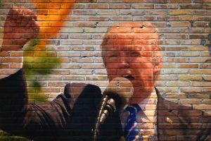 stalen muur van Trump