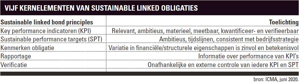 Sustainable Linked Bonds (SLB) | Kernelementen
